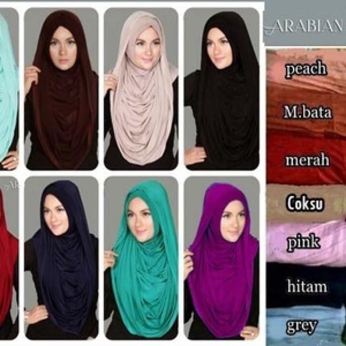 Hijab / Jilbab Instant Arabian Hoodie Premium Versi Jumbo – Best Selle