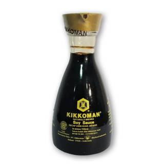 Kikkoman All Purpose Soy Sauce Dispenser Bottle Halal 150ml - shoyu halal