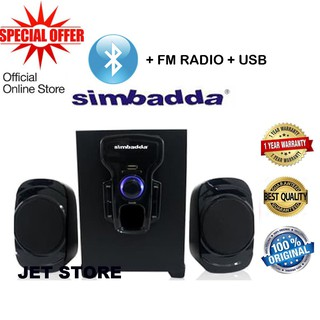 Simbadda Speaker CST 2000N+ Music Player, BLUETOOTH, USB,MMC & RADIO FM.