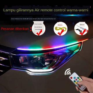 Car Remote control colorful LED Gao Liang steering daylight lamp ultra-thin flow light guide strip led eyebrow lamp streamer lamp decoration