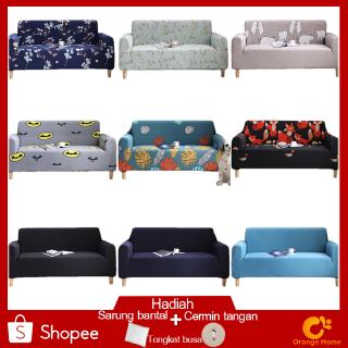 L Shape 1/2/3/4 Seater Sarung Sofa Sarung Pelindung Sofa Cover Model Stretch Elastis