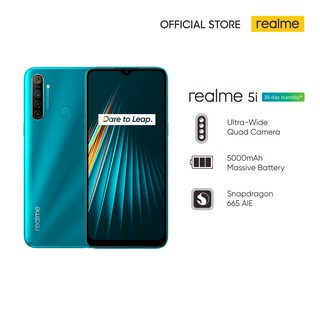 realme 5i 3/32GB [5000mAh Massive Battery, Ultra-Wide Quad Camera, Snapdragon 665 AIE]