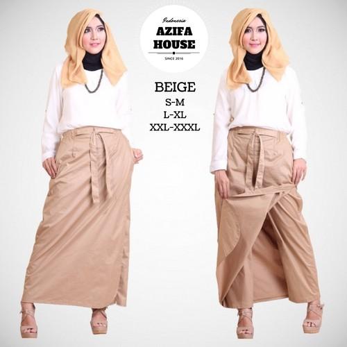 ROCELLA BEIGE (L-XL) – Rok Celana Muslimah/Kerja/Gaul/Kuliah