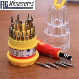 Obeng Set 31 in1 Screwdriver Handphone Elektronik HP