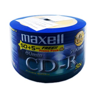 CD R MAXELL 52x ROLL 50+5 pcs