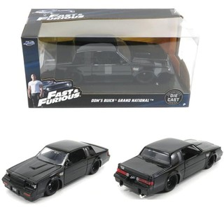 [ Miniatur ] Jada 1/24 Fast and Furious Dom's Buick Grand National Diecast / Mainan