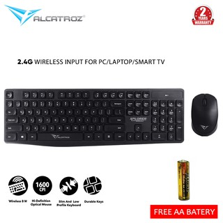 Alcatroz Wireless Combo Keyboard Mouse Xplorer Air 6600 [ PC/ Laptop/ Smart TV ] [ 2 Tahun Garansi ]