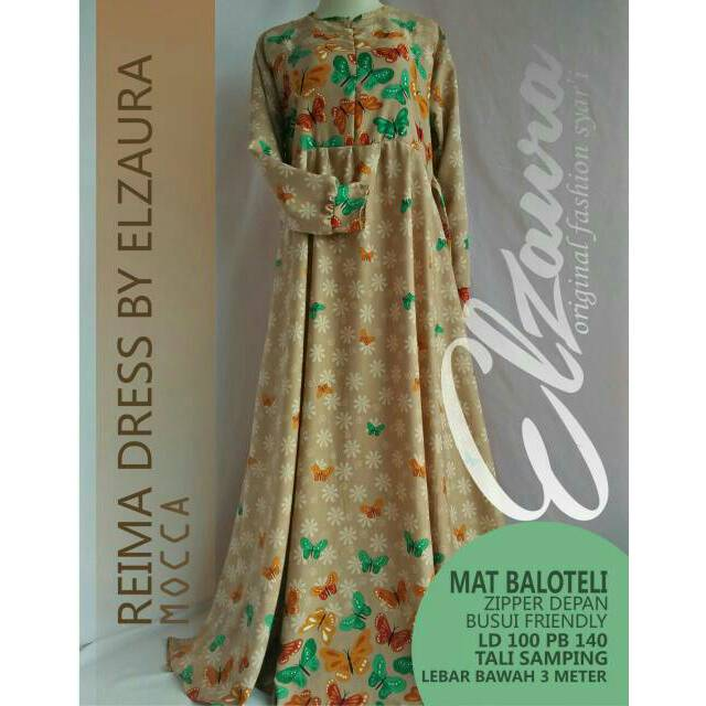 Reima Dress Gamis Muslimah Syar'i by ELZAURA