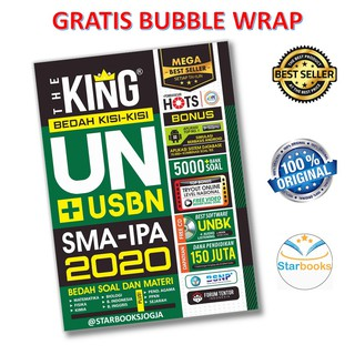READY STOCK!! BESTSELLER!! BUKU THE KING BEDAH KISI-KISI UN SMA IPA 2020 PLUS CD+BONUS - FORUM