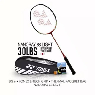 Promo! Raket Badminton Yonex Nanoray 68 Arc Saber 69 Light Bonus Tas Senar Grip