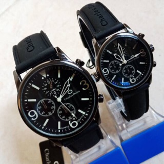 JAM TANGAN COUPLE CHARLES DELON ANTI AIR SUDAH SEPASANG ORIGINAL