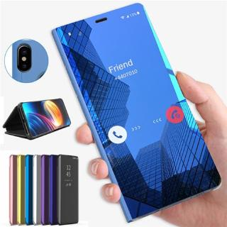 Samsung A10 A20/A30 A40 A50 A70 Casing Flip Case Smart Mirror Clear Untuk