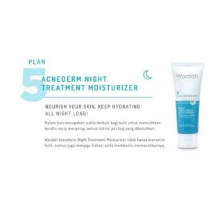 Wardah moisturizer night cream acne drem