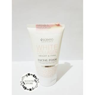 SCENTIO White Collagen Bright & Firm Mild Facial Foam (kulit kering)