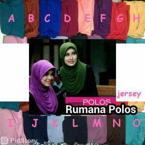 Best Seller Hijab Instant Rumana Polos