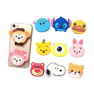 3d Popsocket phone bracket Cartoon Stitch Pooh Cat Dog Mickey Minnie Phone Stand Finger Holder