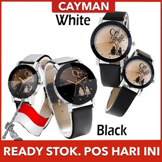 ★ Cayman ★ Jam Tangan Couple Wanita Fashion Jam Tangan Murah Women Leather Analog Watch195