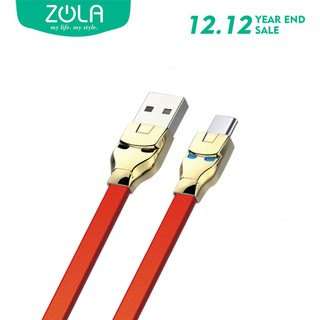Kabel Data Type C ZOLA Marvel 100cm Fast Sync & Charging 2.1A - Red