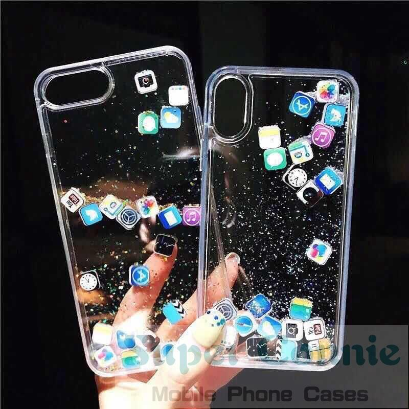 Casing iPhone 6 / 6S / 6sp 11 11pro max 7 8 Plus / X/XSMAX/XR/XS Quicksand Glitter Design Cover