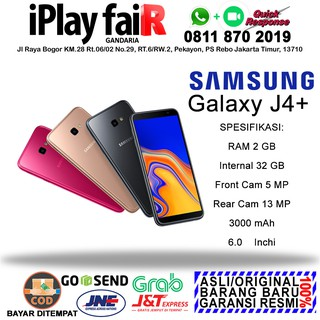 SAMSUNG GALAXY J4 PLUS RAM 2 INTERNAL 32 SEIN