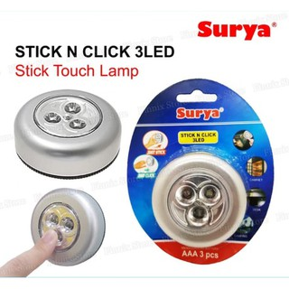 Stick N Click 3 LED Lampu LED Emergency Stick Touch Lamp / Lampu Tempel