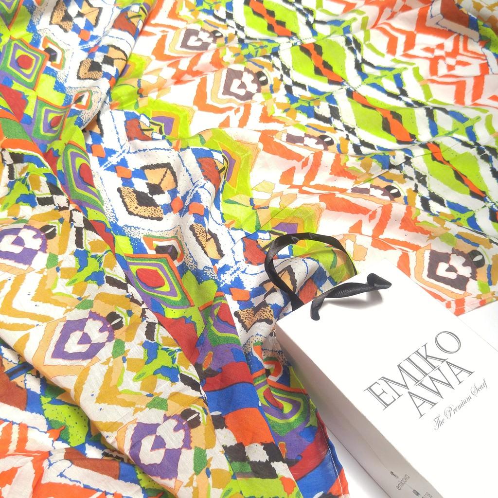 Rainbow   scarf  pashmina motif  hijab  syal  shawl
