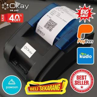 PRINTER BLUETOOTH PAYTREN PAYFAZZ KUDO OKAY 58D  Printer KASIR STRUK THERMAL 58D