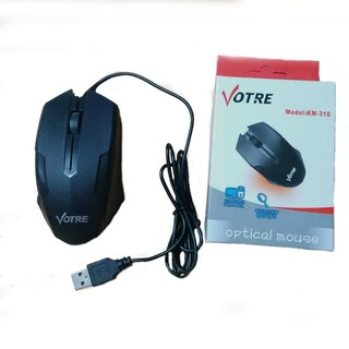 GROSIR - VOTRE MOUSE MODEL GAMING WIRED OPTICAL - MOUSE 310 USB ORIGINAL KM310 MOUSE MURAH