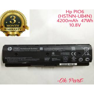 Baterai Battery Laptop Original Hp PI06 Pavilion Envy TouchSmart 14 15 17 HSTNN-LB4N TPN-Q117 PI06