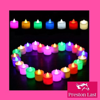 Lilin Mini LED Lampu Elektrik Electric Candle Light Dekorasi Ulang Tahun Rainbow Warna Warni HLL