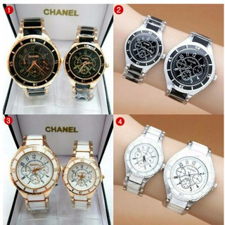 JAM TANGAN BEST SELLER COUPLE KERAMIK STAINLEES