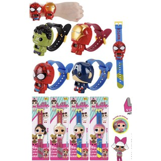 Jam Tangan PENCET LOL Surprise / Jam Anak Robot Lucu Super Hero Hello Kitty Spiderman Pony Iron Man