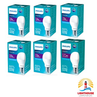 Lampu Led Bulb Philips Essential LED E27 Putih Cool Daylight 3W 5W 7W 9W 11W 13W