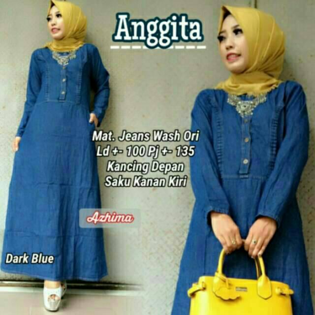 Anggita maxi jeans Allsize LD 98-100