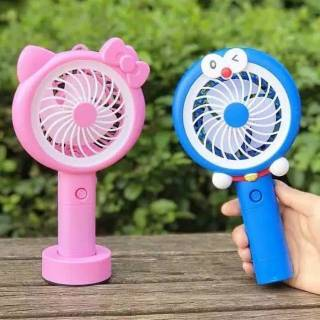 Kipas Karakter Mini / Mini Fan Karakter / Kipas Angin LED Pengisian USB