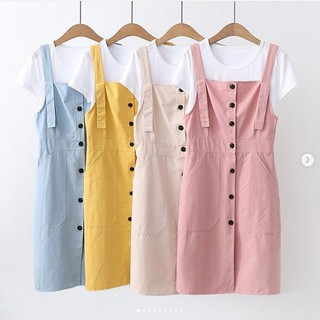 RX FASHION - OVERALL JESSLYN BAHAN TWISCONE UKURAN ALL SIZE FIT TO L - 1R