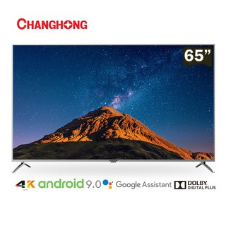 【BELI TV GRATIS TV】Changhong 65 Inch 4K UHD  Android 9.0 Smart TV Netflix  LED TV (Model:U65H7A)