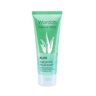 Wardah Aloe Hydramild Facial Wash 60ML / Wardah Skincare / Aloevera Facial Wash