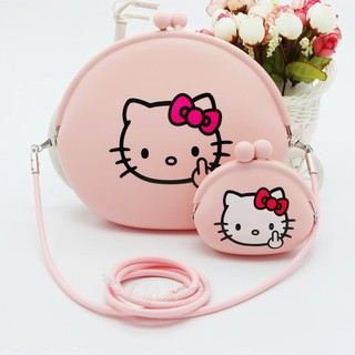 Hello Kitty Perempuan Purse Ramah Silicone Dompet