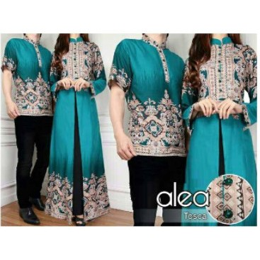 PROMO couple azalea, busana muslim baju pasangan sarimbit batik terbaru Murah