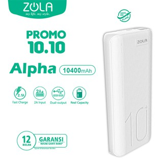 PROMO !!!  Powerbank ZOLA Alpha 10400mAh Fast Charge 2.1A Dua Output