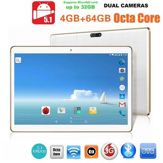 Hot flash sales 10.1'inch 4G+64G Android 5.1 Dual Sim Phone Pad Tablet PC Phablet Tab iPad