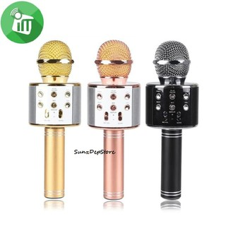 Mic Bluetooth WS-858 Wster Smule Wireless Karoke Portable Karaoke KTV MIC KARAOKE BIG SALE