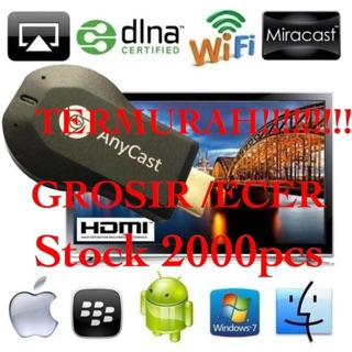 HDMI wireless  Dongle Anycast  DLNA Miracast HDMI Streaming Media Player-Easy Sharing