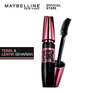 Maybelline Volum Express Hypercurl Waterproof Mascara Make Up - Black [ Tahan Hingga 24 Jam ]