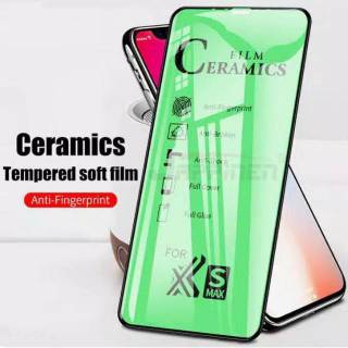 TEMPERED GLASS CERAMIC FILM FULL COVER FULL LAYAR ALL TYPE SAMSUNG OPPO VIVO XIAOMI REALME IPHONE