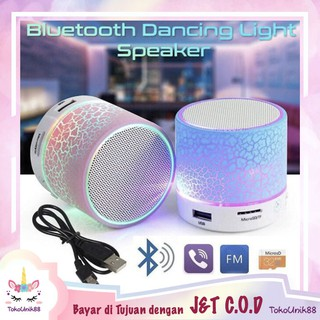 TU88 Mini Speaker A9 Speaker LED Motif Retak Speaker Bluetooth USB Wireless Portable Speaker - SA9