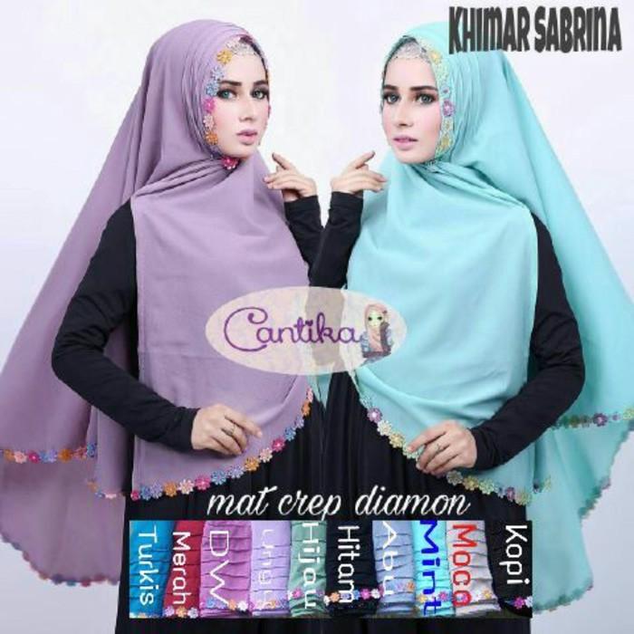 Desain Hijab Kerudung Terbaru Khimar Sabrina Melati Lipit Sabrina Melati Jlb11 Adem Dipakai