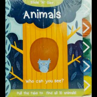 Slide 'n' See - Animals Board Book