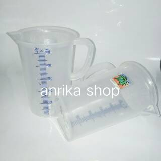 Gelas ukur/takar green leaf plastik 500ml
